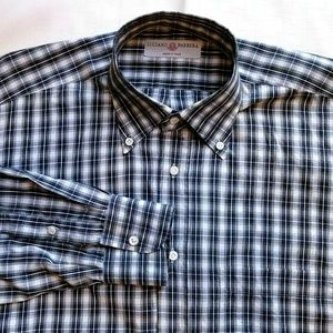 Luciano Barbera Button Down Check Dress Shirt